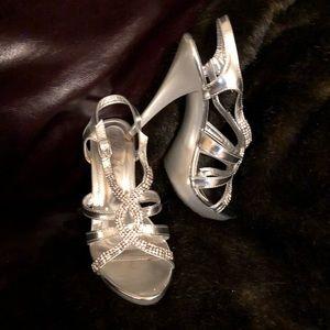 Shoes - Rhinestone crystal platform sandals